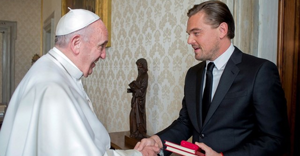 Pope Francis receives Leonardo DiCaprio in audience (AP)