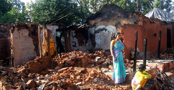 A growing wave of Hindu nationalism that today dominates parts of India and fuels hostility toward Christians exploded in Kandhamal in August, 2008. (AP)