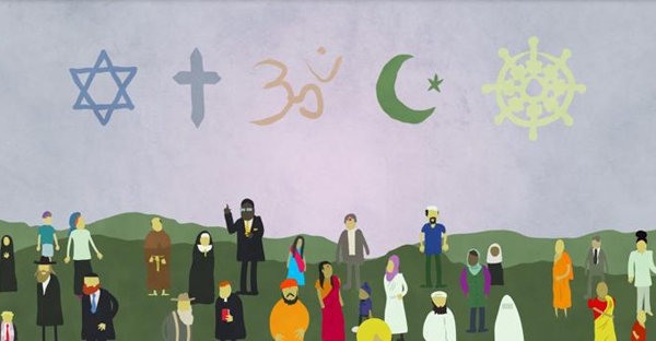A still from the Religious Literacy: Traditions and Scriptures promotional video. (Photo courtesy of Harvard X)