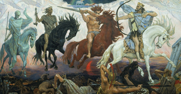 Viktor Vasnetsov's Four Horsemen of the Apocalypse, 1887. (Photo: Wikimedia Commons)