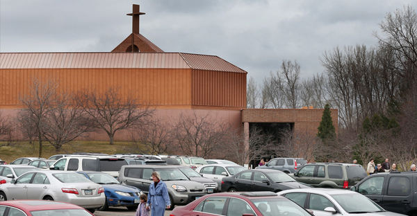 Parishioners attended what at the time was the last worship services at North Heights Lutheran Church in Arden Hills in March. (JERRY HOLT)