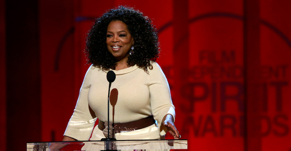 "Entertainer and producer Oprah Winfrey arrives to introduce a clip from her Best Feature nominated film ""Selma"" at the 2015 Film Independent Spirit Awards in Santa Monica, California Feb. 21, 2015. (Photo courtesy REUTERS/Adrees Latif)"