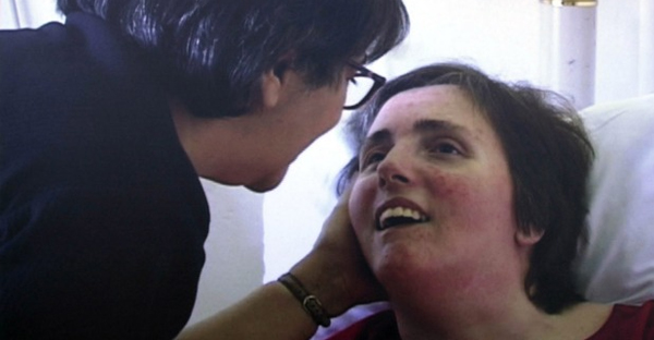 Terri Schiavo with her mother in the 1990s.