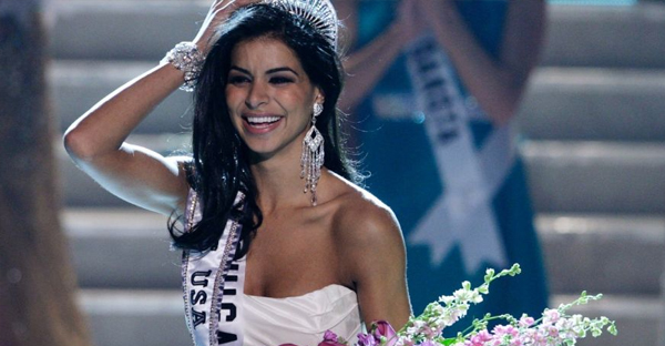 Miss Michigan Rima Fakih reacts after being crowned Miss USA during the 2010 Miss USA pageant at the Planet Hollywood Resort and Casino in Las Vegas, Nevada May 16, 2010. (Reuters)