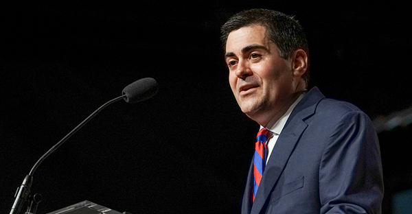 Russell Moore, president of the Ethics & Religious Liberty Commission, gives the entity's report during the annual meeting of the Southern Baptist Convention on June 15, 2016 in St. Louis. (By Adam Covington, courtesy of Baptist Press)