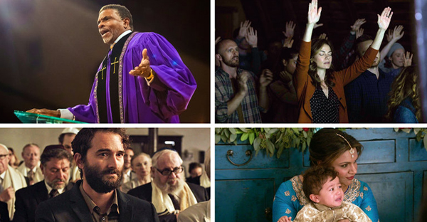 "Clockwise from left: Keith David in ""Greenleaf""; Michelle Monaghan in ""The Path""; Mindy Kaling in ""The Mindy Project""; and Jay Duplass in ""Transparent."" (Credit: Oprah Winfrey Network/Lionsgate; Hulu; Amazon Studios)"