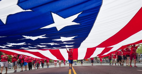 The Independence Day parade on July 4, 2015, in Washington. (Charles Ommanney/The Washington Post)