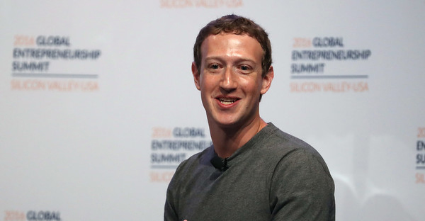 Facebook CEO Mark Zuckerberg speaks on a panel discussion with U.S. president Barack Obama during the 2016 Global Entrepreneurship Summit at Stanford University on June 24, 2016 in Stanford, California. (Justin Sullivan/Getty Images North America)