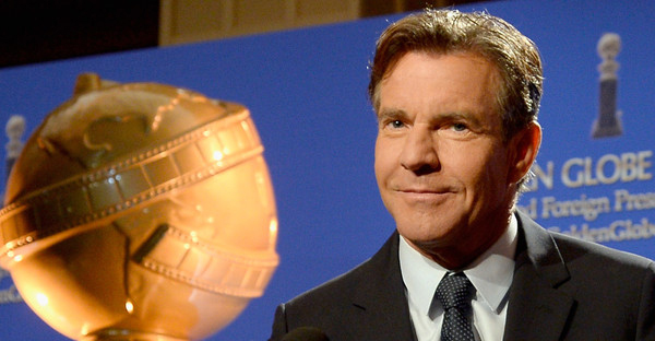 Actor Dennis Quaid speaks onstage at the 73rd Annual Golden Globe Awards Nominations Announcement at The Beverly Hilton Hotel on December 10, 2015 in Beverly Hills, California. (Kevork Djansezian/Getty Images North America)