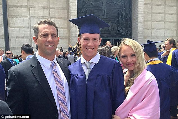 Tom Brady sent a letter to the parents of 20-year-old Calvin Riley (pictured with Sean and Kariann Riley) after the boy was gunned down in San Francisco in August while playing Pokemon Go in the NFL great's hometown.