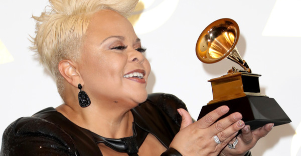 Singer Tamela Mann, winner of Best Gospel Performance/Song for 'God Provides,' poses in the press room during The 59th GRAMMY Awards at STAPLES Center on February 12, 2017 in Los Angeles, California. (Frederick M. Brown/Getty Images North America)