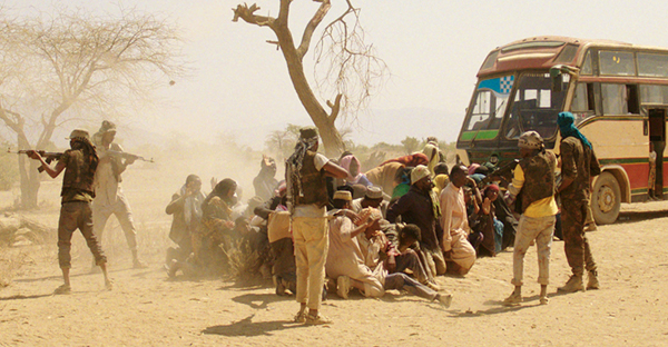 "A scene from the ""Watu Wote"" film, based on the militant ambush of a Mandera, Kenya, bus in December 2015. (Photo courtesy of Hamberg Media School)"