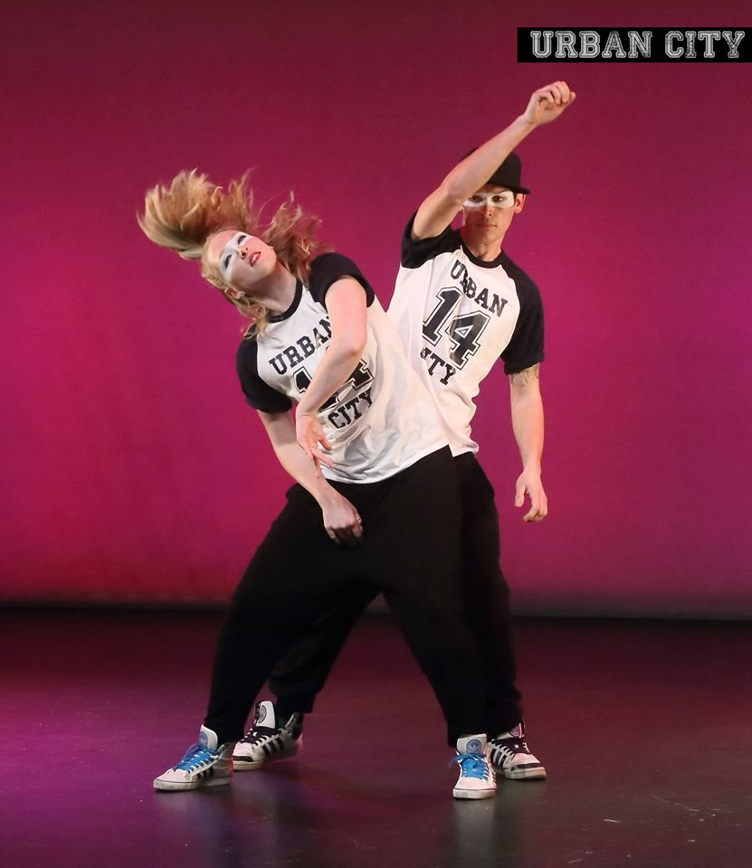 Two Crawley Street Dancers performing at the Hawth theatre