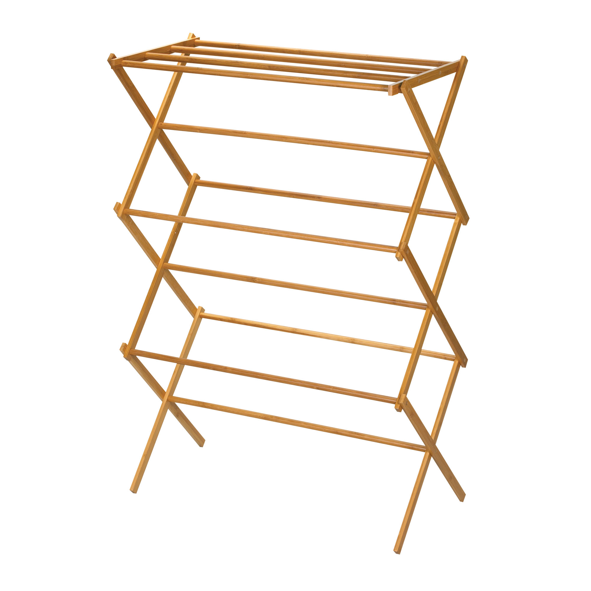 Wall Mounted Wooden Expandable Clothes Drying Rack
