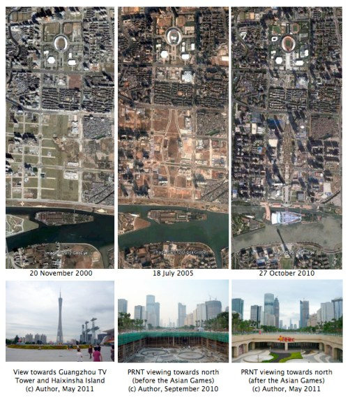 Transformation of the Pearl River New Town, 2000 - 2010