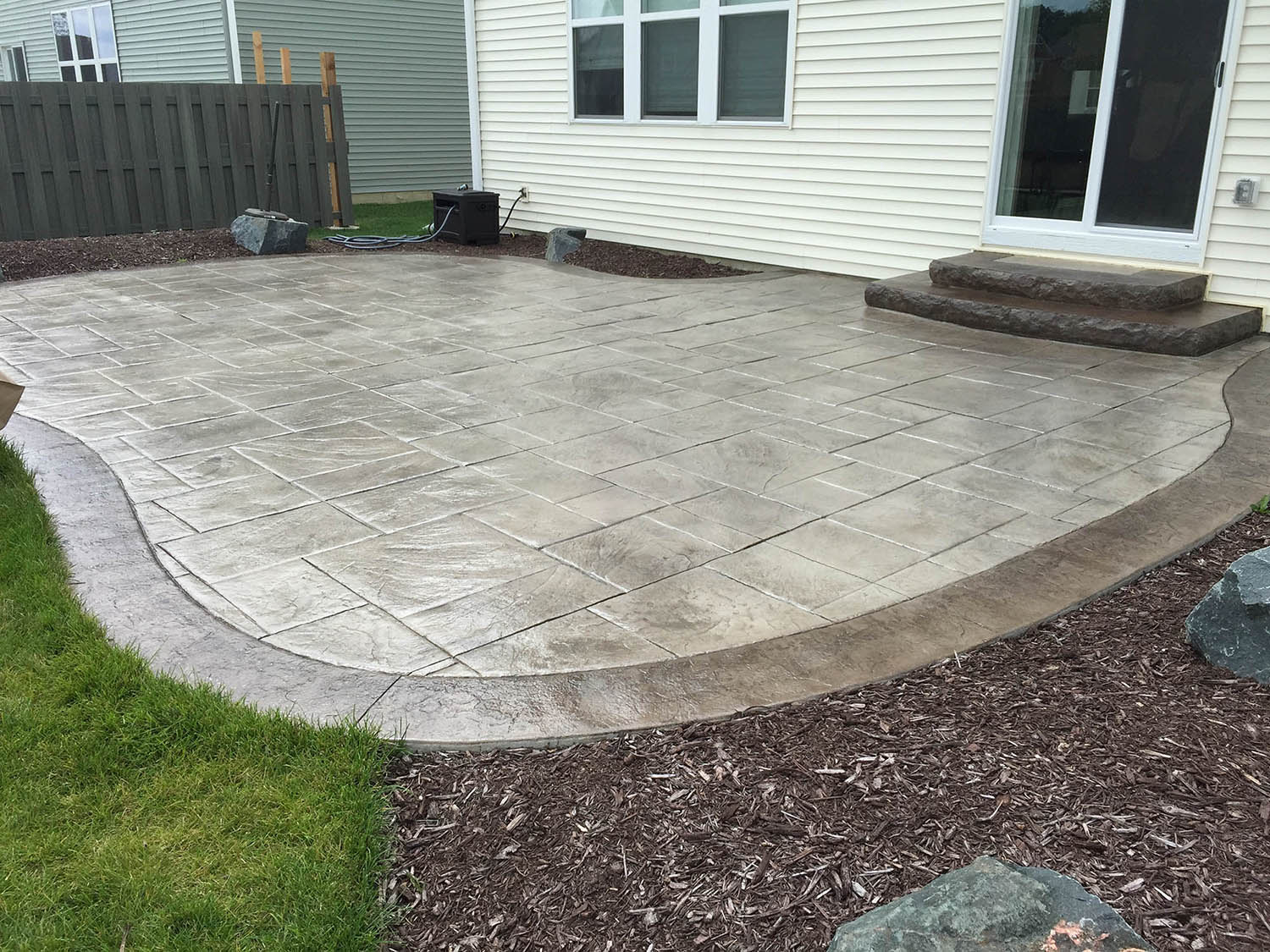 Flagstone Stamped Concrete. Flagstone Stamped Concrete Patio