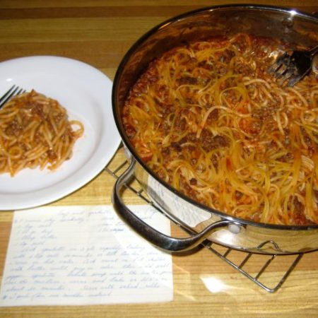 Beef & Spaghetti Dinner | © Life Through the Kitchen Window.com