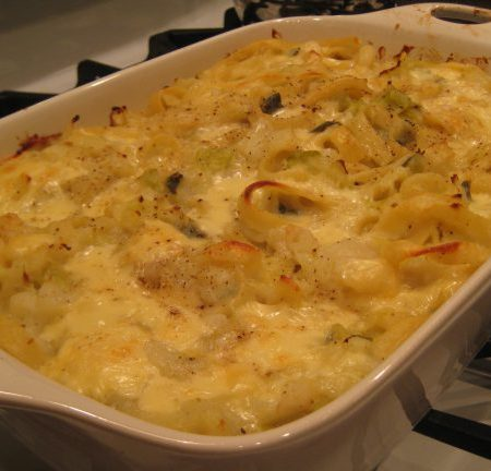 Pasta with Potatoes, Cabbage & Cheese | © Life Through the Kitchen Window.com