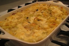 Pasta with Potatoes, Cabbage & Cheese   © Life Through the Kitchen Window.com