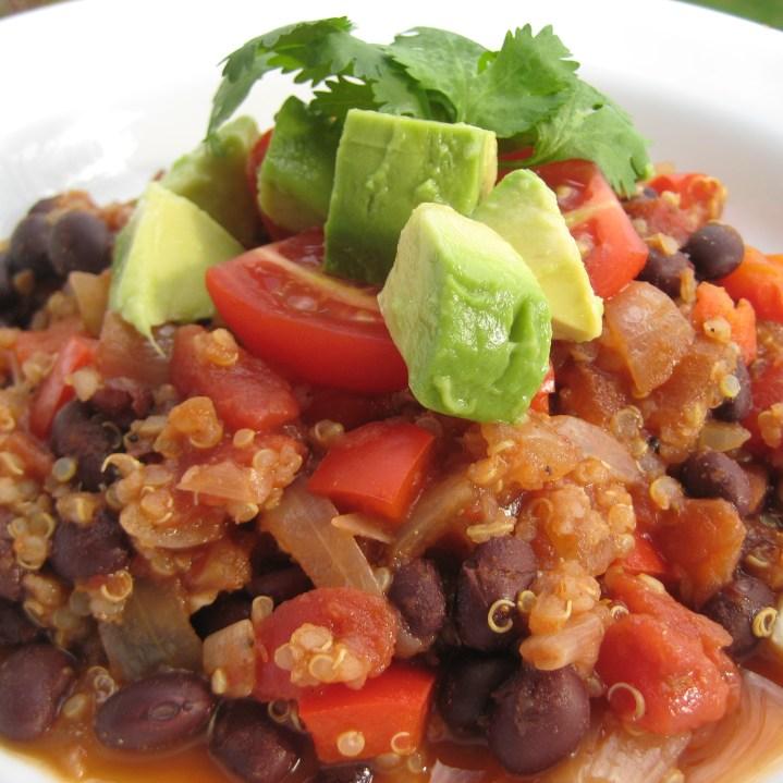 Quinoa & Red Pepper Chili   © Life Through the Kitchen Window.com