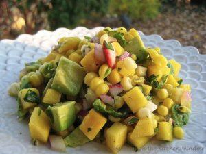 Mango Corn Salsa   © UrbanCottageLife.com