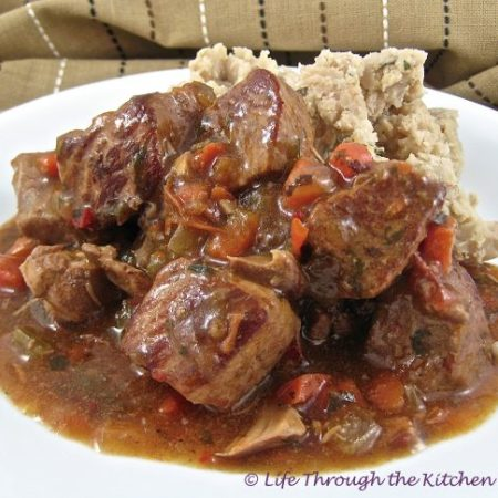 Italian Pork Stew with White Bean Mash | © Life Through the Kitchen Window.com