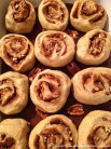 Cinnamon buns ready to rise in the refrigerator overnight