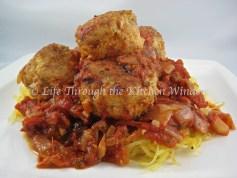 Spaghetti Squash & Meatballs | © Life Through the Kitchen Window.com