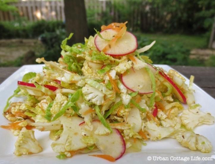 Southwest Shaved Cauliflower Salad ❘ © UrbanCottageLife.com