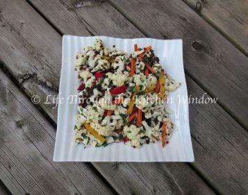 Asian-Inspired Cauliflower & Beluga Lentil Salad | © Life Through the Kitchen Window