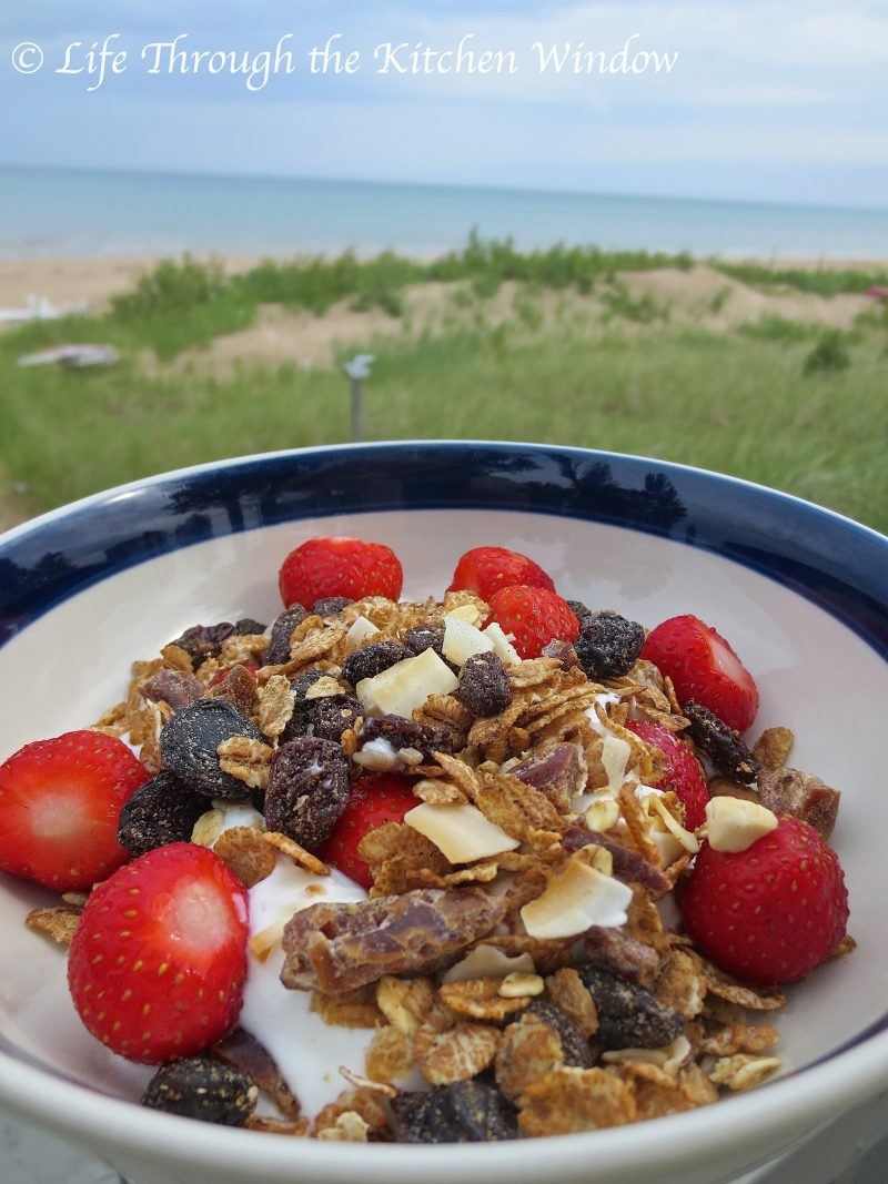 Super High FIbre Muesli with Yogourt & Strawberries ⎮©Life Through the Kitchen Window
