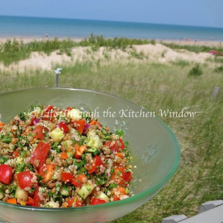 Brown Lentil, Quinoa & Parsley Salad ⎮ © Life Through the Kitchen Window