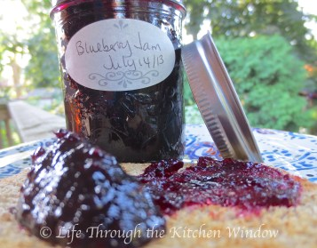 The Simple Pleasures of Homemade Blueberry Jam   © Life Through the Kitchen Window