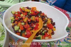 Black Bean & Mango Salad | © Life Through the Kitchen Window