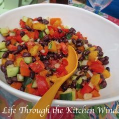 Black Bean & Mango Salad | © Life Through the Kitchen Window