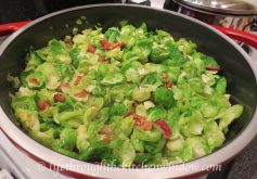 Sautéed Brussels Sprouts Leaves with Bacon | © lifethroughthekitchenwindow.com