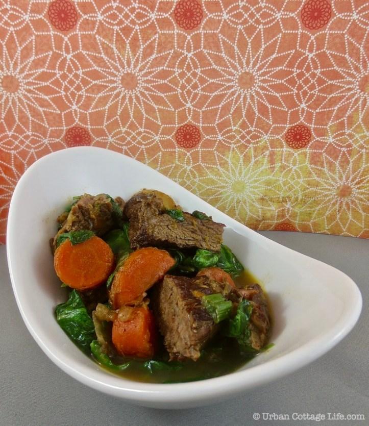 Ginger Orange Beef Stew ❘ UrbanCottageLife.com