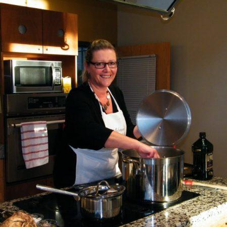 Teaching a Cooking Class   © Life Through the Kitchen Window .com
