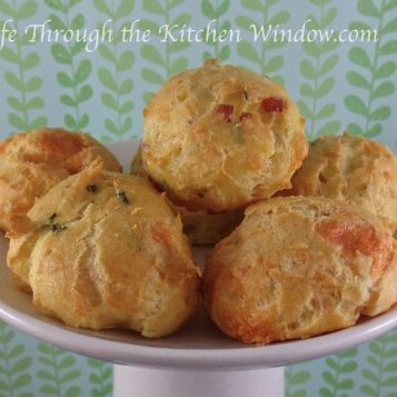 Gougeres | © Life Through the Kitchen Window.com