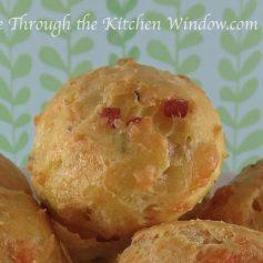 Italian Ham & Cheese Gougere | © Life Through the Kitchen Window.com