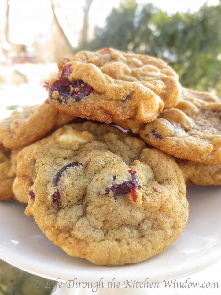 Cranberry White Chocolate Cookies | © UrbanCottageLife.com