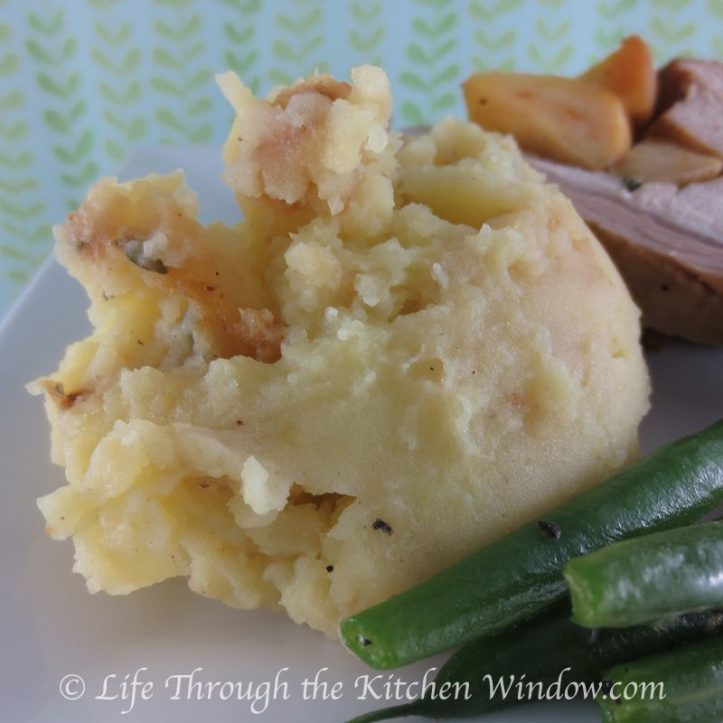 Simple Pleasures - Apple Mashed Potatoes | © Life Through the Kitchen Window.com