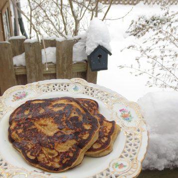 Apple Sour Cream Pancakes | © Life Through the Kitchen Window.com