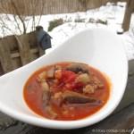 Portobello Mushroom & Sausage Soup | © UrbanCottageLife.com