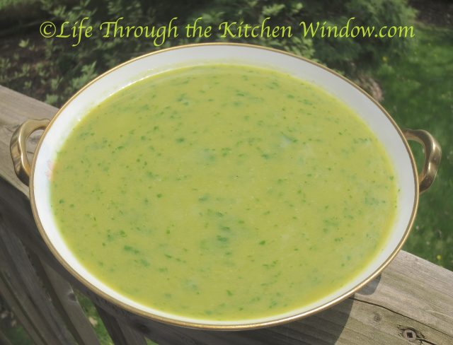 Asparagus Soup with Spinach | ©Life Through the Kitchen Window.com