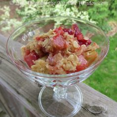 Even Sassier Rhubarb Strawberry Crisp | © Life Through the Kitchen Window.com