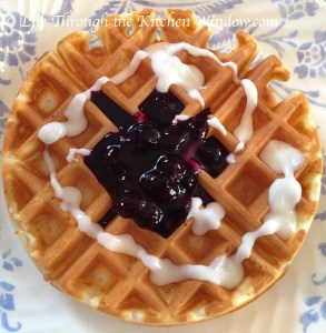 Mom's Belgian Waffles | © Life Through the Kitchen Window.com