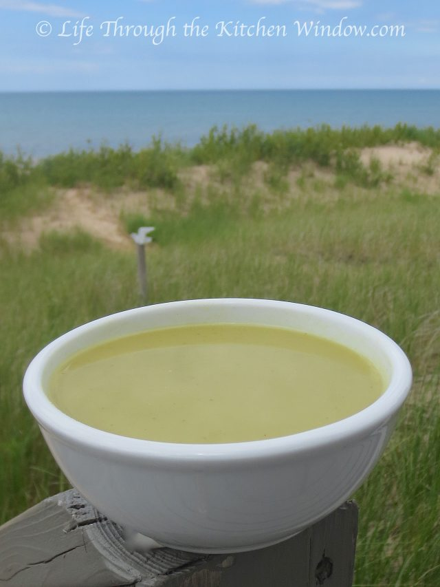 Cream of Fresh Pea Soup │ © Life Through the Kitchen Window.com