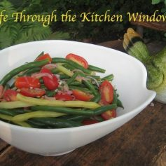 Green & Yellow Bean Salad with Cherry Tomatoes | © Life Through the Kitchen Window.com