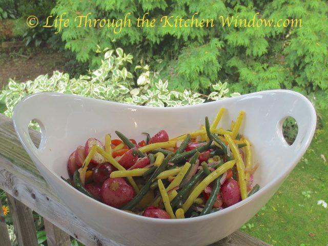 Green & Yellow Bean Salad with Mixed Tomatoes & Baby Red Potatoes | © Life Through the Kitchen Window.com